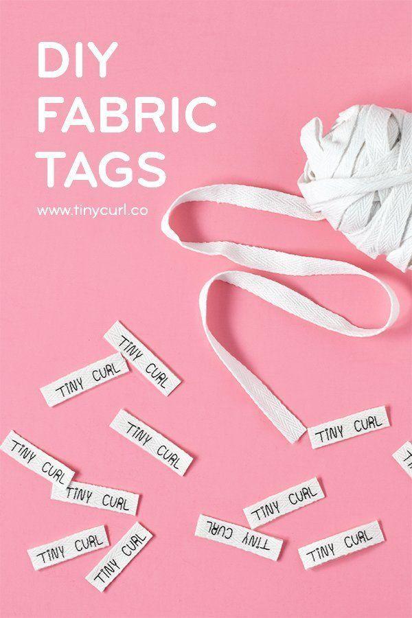 Diy Fabric Tag Tutorial Sewing Labels Sewing Labels Diy Sewing Tags