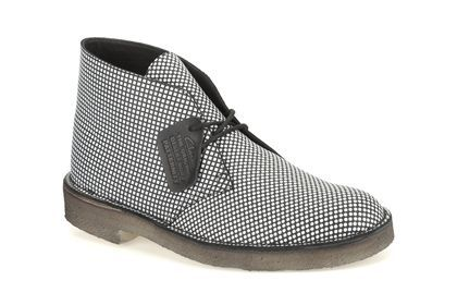 Mens Originals Boots - DesertPattern in Black/White from Clarks shoes