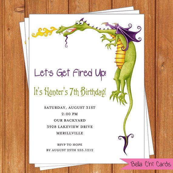 Dragon Invitation | Kids Birthday | Printable Editable Digital PDF File | Instant Download | KBI305DIY