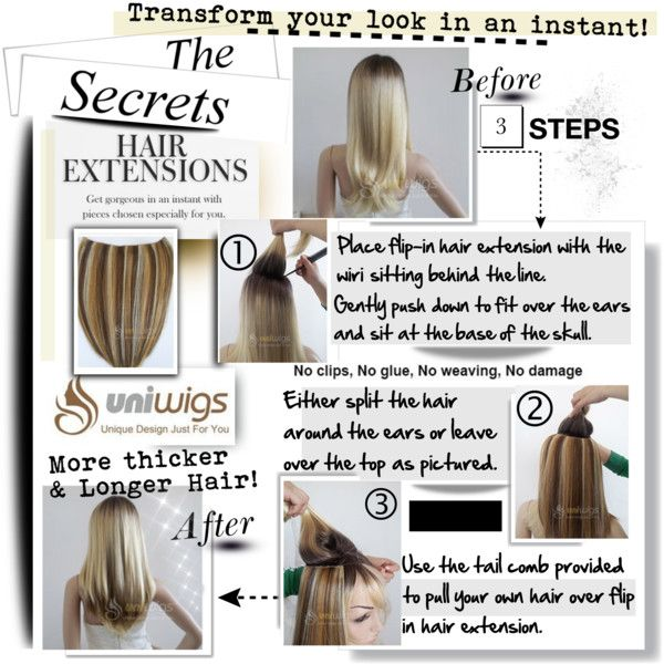 """The Secrets Hair Extensions...."" by hamaly on Polyvore ""Synthetic wigs , human hair wigs , hair extensions y other productos for your hairstyle: www.uniwigs.com"""