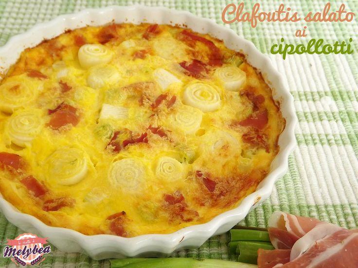 #Clafoutis salato ai #cipollotti