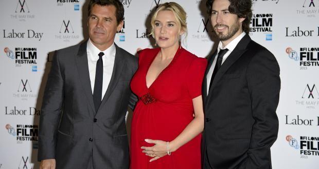 Josh Brolin, Kate Winslet and director Jason Reitman at screening of Labor Day. 57th BFI London Film Festival.