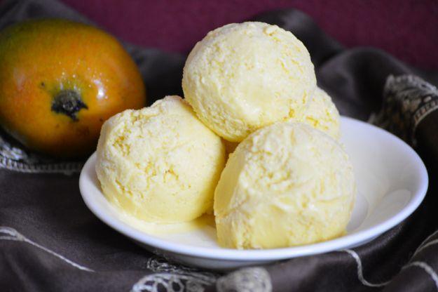 Rich Mango Ice Cream  http://www.flavourbasket.com/2015/04/rich-mango-ice-cream-recipe/
