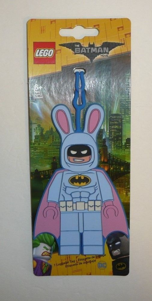 The Lego Batman Movie Bunny Luggage Tag ID Tag Kids Children Rubber Suitcase NEW #Lego