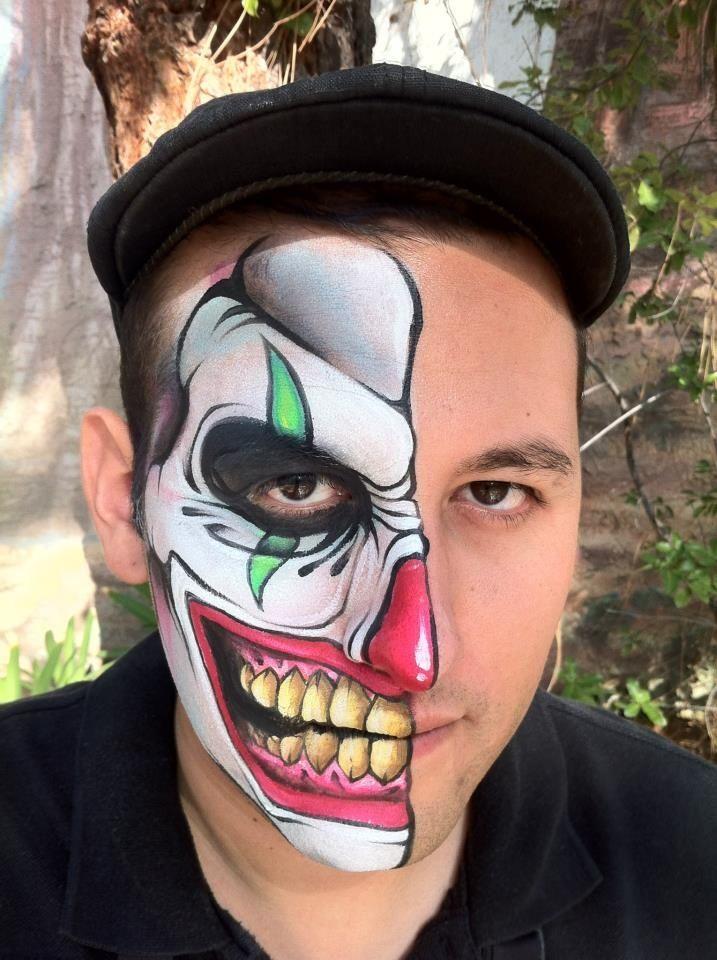 Evil clown face paint designs