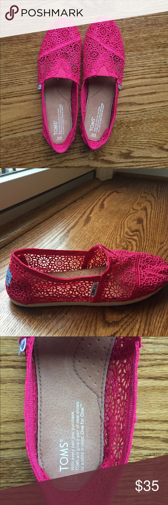 Toms Crochet shoes NWOT Never worn! But no tags Toms Shoes