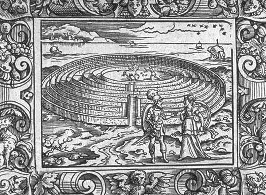 (Teseo y Ariadna a la entrada del Laberinto)