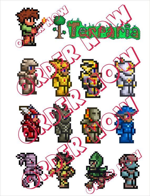 #Terraria Stickers DIY printable pdf by Aluminumguy, $5.00