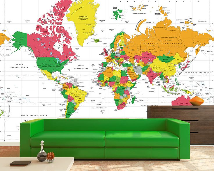 22 best MAP MURALS images on Pinterest Maps, Murals and Wall murals - best of world map for wall mural