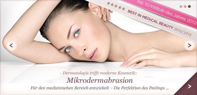Die Grundlage einer guten Behandlung ist in diesem Institut die Entfernung der abgestorbenen Hautzellen.