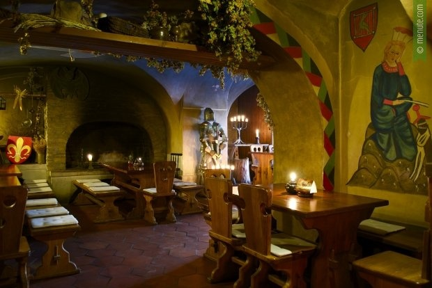 Restaurant U Sedmi Švábů — Fireshows and bellydancing on Fridays and Saturdays what is quite warming!