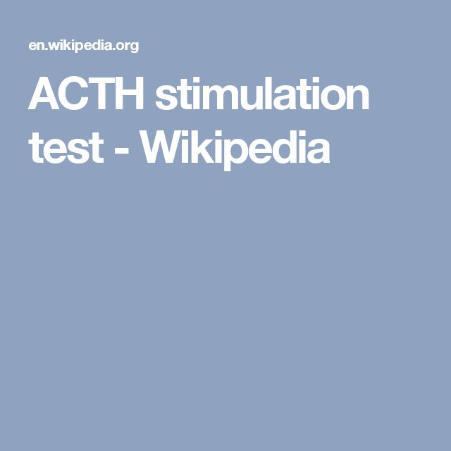 Stress Test Wiki: Best 25+ Acth Stimulation Test Ideas On Pinterest