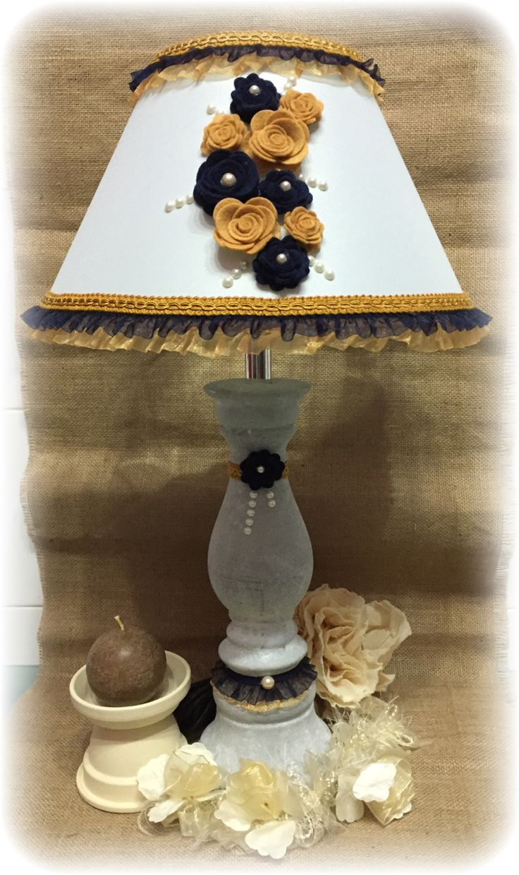 lampada giallo/blu grande