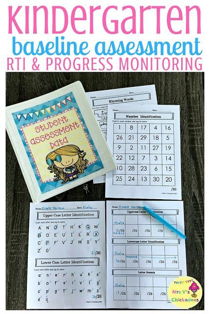 Kindergarten Customizable Baseline Assessment good for whole class, RTI, & progress monitoring. Plus forms to track growth for the entire year. The data collected is great for report cards, parent-teacher conferences, special education meetings, IEP meetings and more. Editable tracker to help meet your specific needs