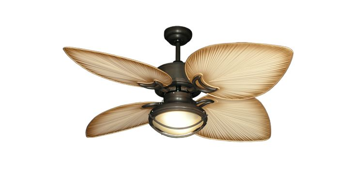 "Bombay Outdoor Tropical Ceiling Fan in  Oil Rubbed Bronze  with 50"" Tan Bombay Blades and 163 Light"