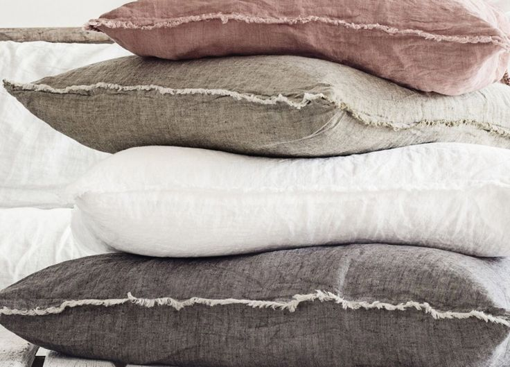Flocca Linen Euro Pillow Case - Est Living  @estemag and #estliving #estdesigndirectory