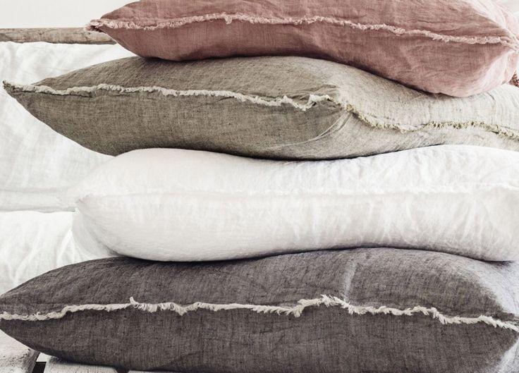 Flocca Linen Euro Pillow Case - Est Living  @estemag and #estliving #estdesigndirectory