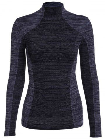 SHARE & Get it FREE | Stylish Stand Collar Long Sleeve Gym Top For WomenFor…