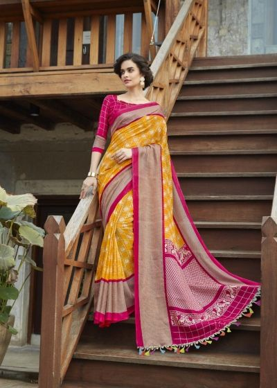 cd92301f620 SHREYANS FASHION GLOBAL CHECKS VOL 1 JUTE LINEN SAREE WHOLESALER IN SURAT  MARKET (7)