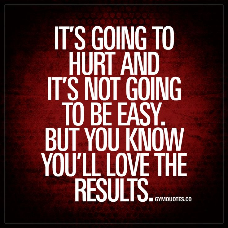 It's going to hurt and it's not going to be easy. But you know you'll love the results. - The process of making gains or becoming fit is not an easy one. It is going to hurt and there's gonna be a lot of pain involved. And it sure as hell won't be easy.. But one things for sure.. You ARE going to love the results. And you know it. #gymquotes #workoutmotivation #gains
