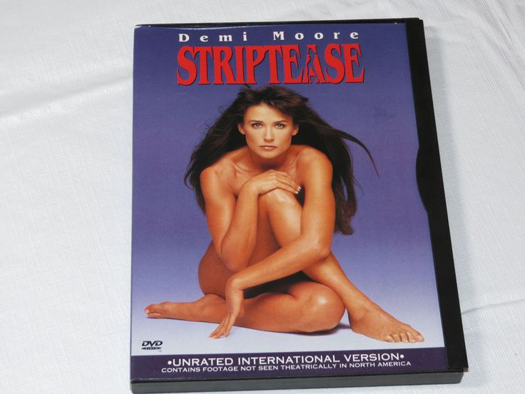 Striptease DVD 1999 Unrated International Version Demi Moore Burt Reynolds