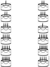 * Welke taart heeft evenveel kaarsjes?