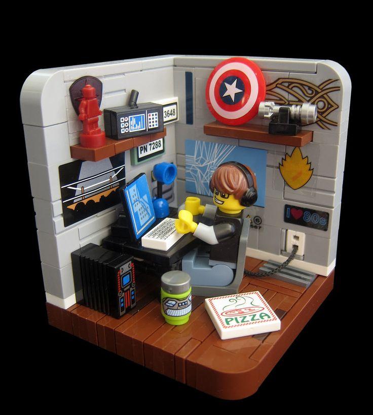 les 23 meilleures images du tableau lego sur pinterest id es lego meubles de lego et projets. Black Bedroom Furniture Sets. Home Design Ideas