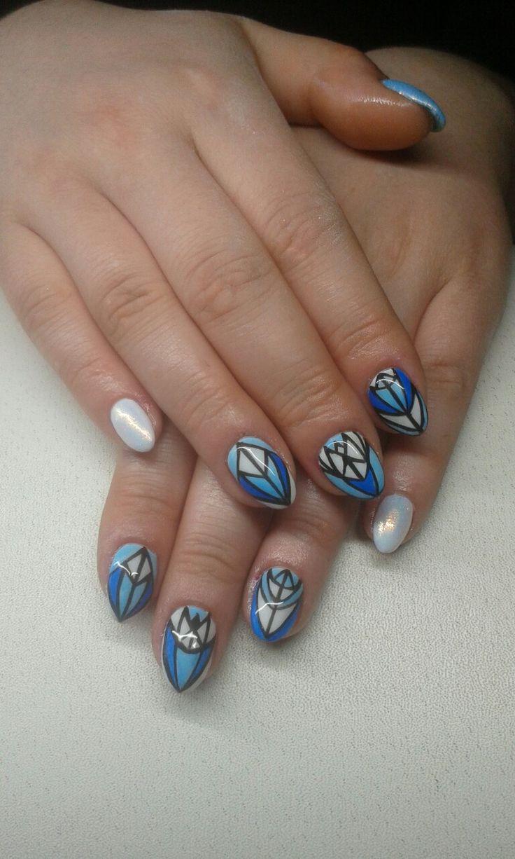 geometric nails design  https://www.facebook.com/nailartdesignsalice/