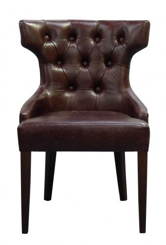 Adonis leather dining chair