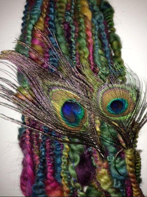 Handspun Art yarn by pamsfiber on Etsy, $44.00