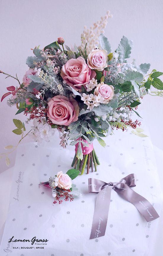 79 best Silk Flower Bouquets images on Pinterest   Silk flower ...