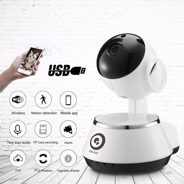 Digoo BB-M1 câmera de segurança IP monitor do bebê de alarme casa hd 720p ONVIF áudio USB WiFi sem fio