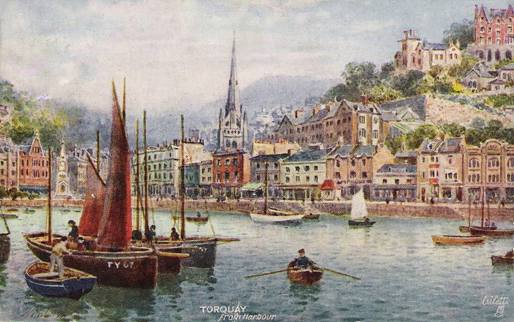 Devon, Torquay, View from the Harbour.