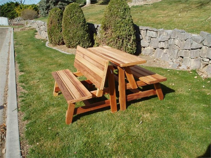 Herman Convertible Furniture Bench To Half Picnic Table Buy Now