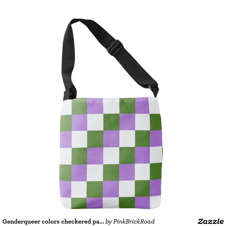 Genderqueer colors checkered pattern tote bag