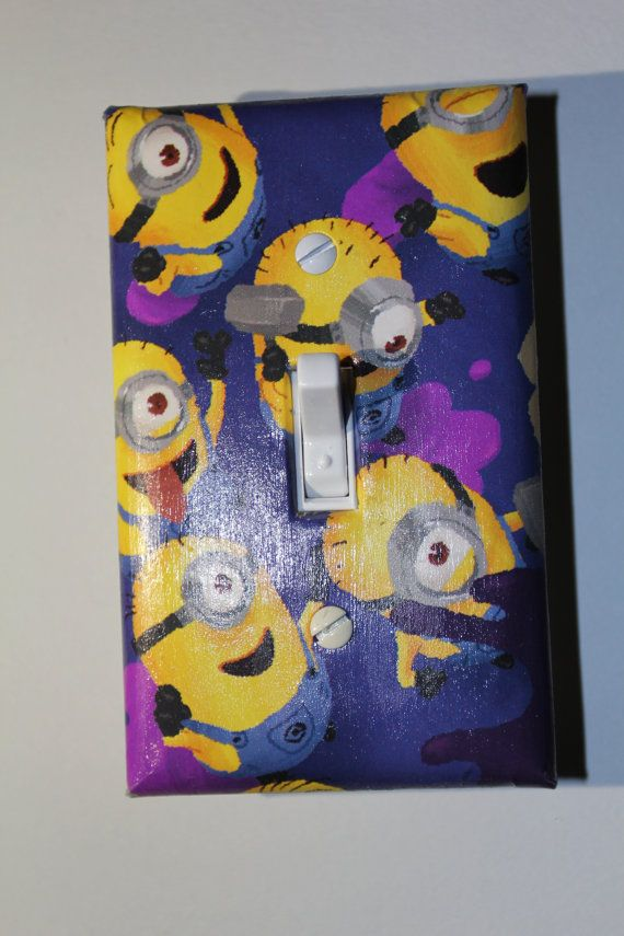 Despicable Me Minion Light Switch Plate Cover Room Decor by ComicRecycled, $7.99
