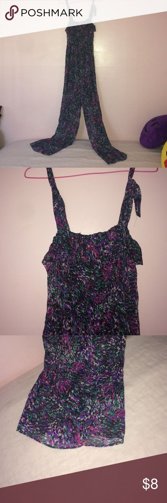 Purple Design Jumpsuit Great condition, no alterations, i'm 5'7 and it fits perfectly Dresses