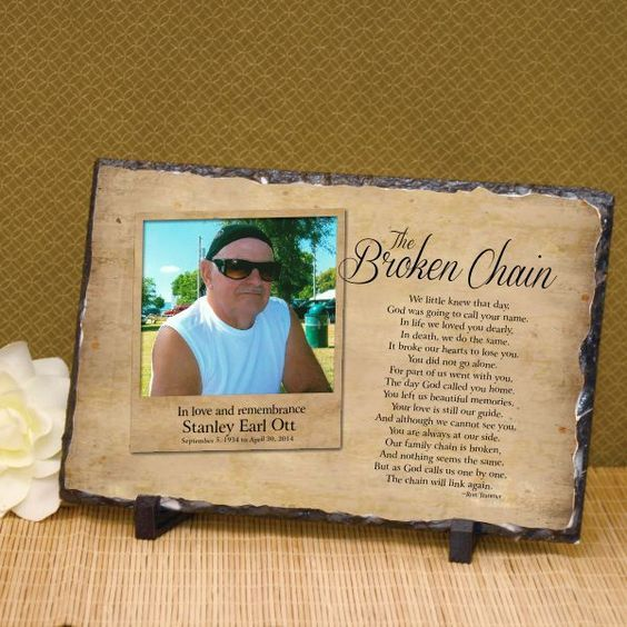The Broken Chain Photo Plaque | Memorial Plaque with Photo