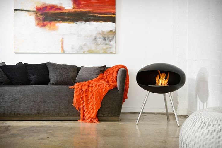 Warm Up Your Life With These 13 Freestanding Fireplace Designs Freestanding Fireplace Fireplace Design Minimalist Fireplace