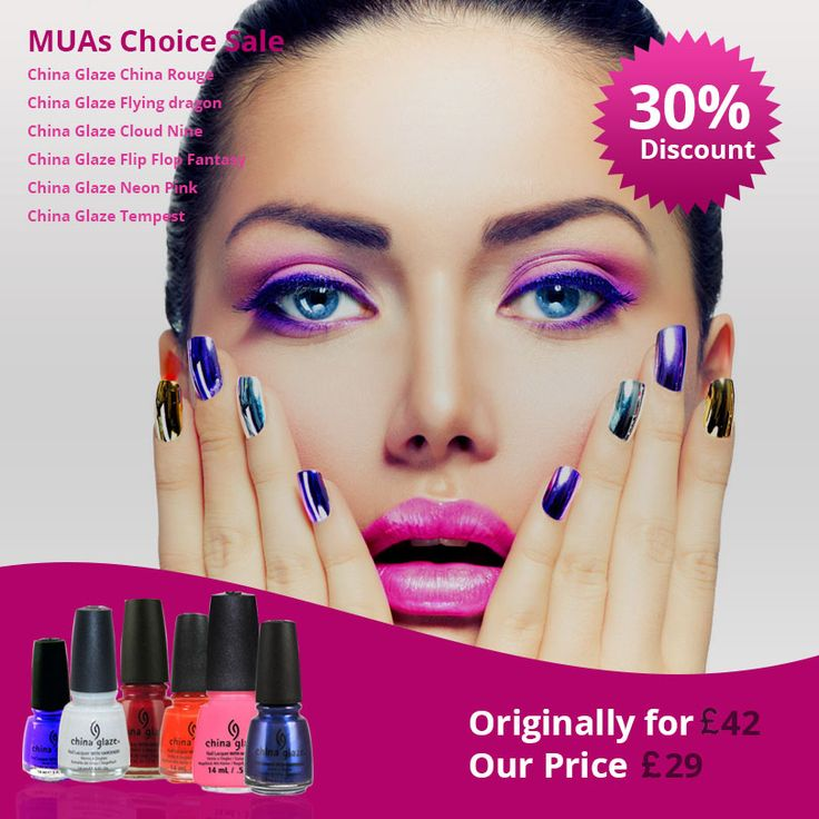 Forever Cosmetics MUAs Choice Sale! 30% OFF on China Glaze Set of 6 Nail Paints. Now at £29.  Just follow the link:  https://www.forevercosmetics.co.uk/special-promotions/china-glaze-nail-polish-set-of-6