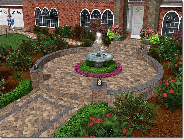patio design 3d design home design front walkway retaining walls tool