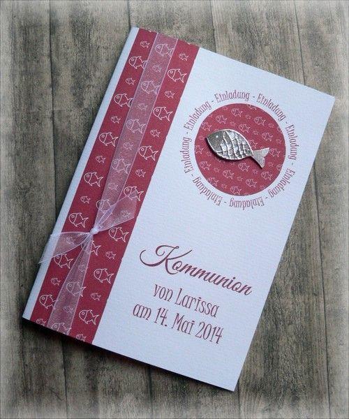 Einladung Einladungskarte Kommunion Konfirmation von CARD-YA Kreatives aus Papier auf DaWanda.com