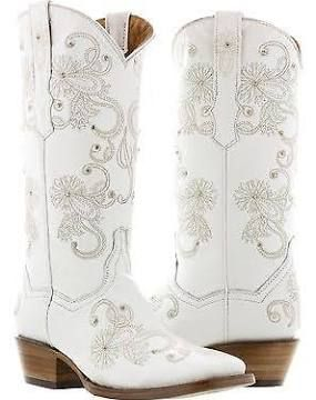 cowboy boots and wedding dresses