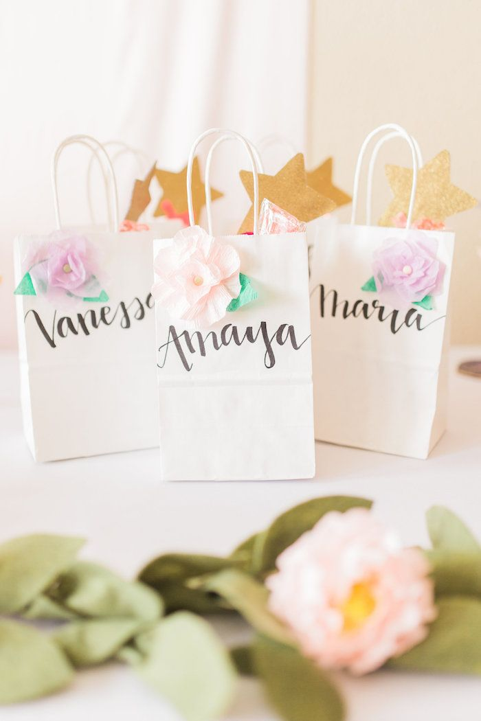 Favor bags from a Whimsical Floral Princess Party via Kara's Party Ideas | KarasPartyIdeas.com - The Place for All Things Party! (22)