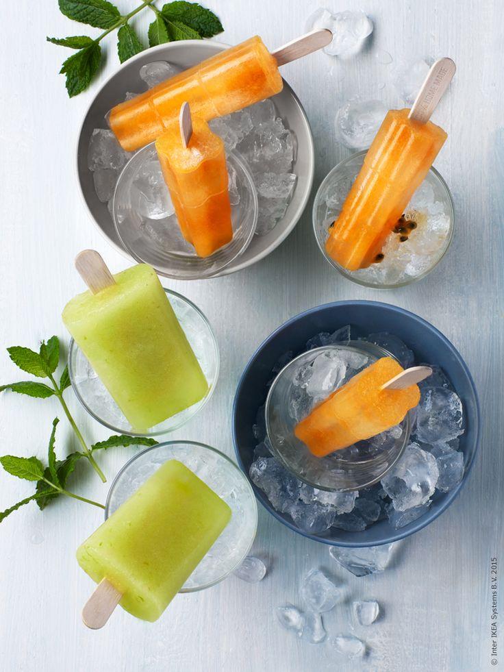 I sommarvärmen finns det nästan inget som är godare att svalka sig med än en isglass. Lätt att göra själv! Klicka på bilden för recept!