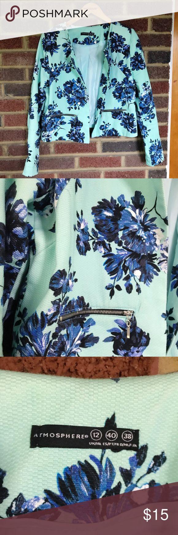 Primark Atmosphere Floral Light Blue Blazer Light blue floral blazer from Primark. UK 12 which fits US 4 or 6 Atmosphere Jackets & Coats Blazers