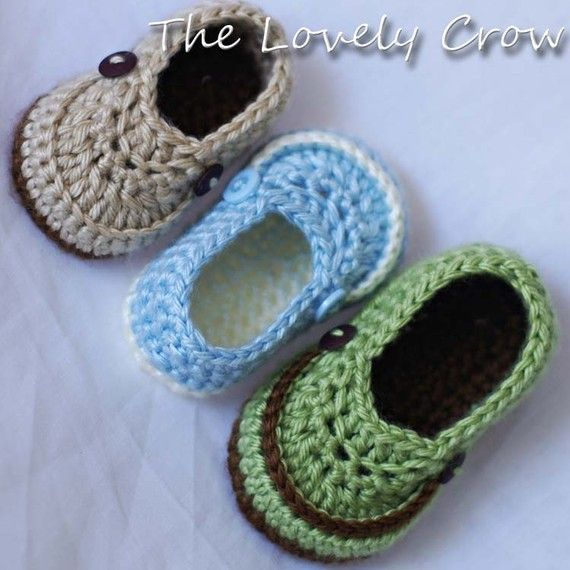 Baby Boy Booties Crochet Pattern for LITTLE MISTER by ebethalan, $5.95