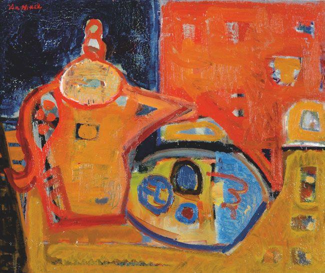 Lea Nikel – Still Life, 1950's, Oil on canvas, 46x55 cm
