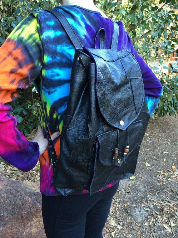 Hippie Gypsy Patchwork Leather Backpack by HippieGypsybyCherie