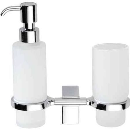 wall mounted frosted glass soap dispenser and toothbrush holder - Google Search